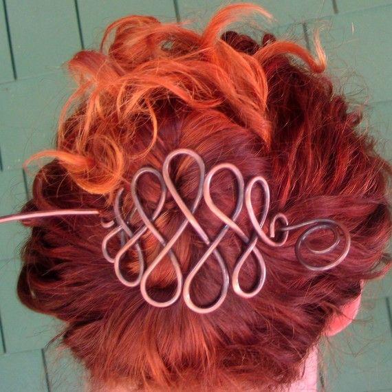 Celtic Net Copper Hair Pin   Pinterest   Haarschmuck