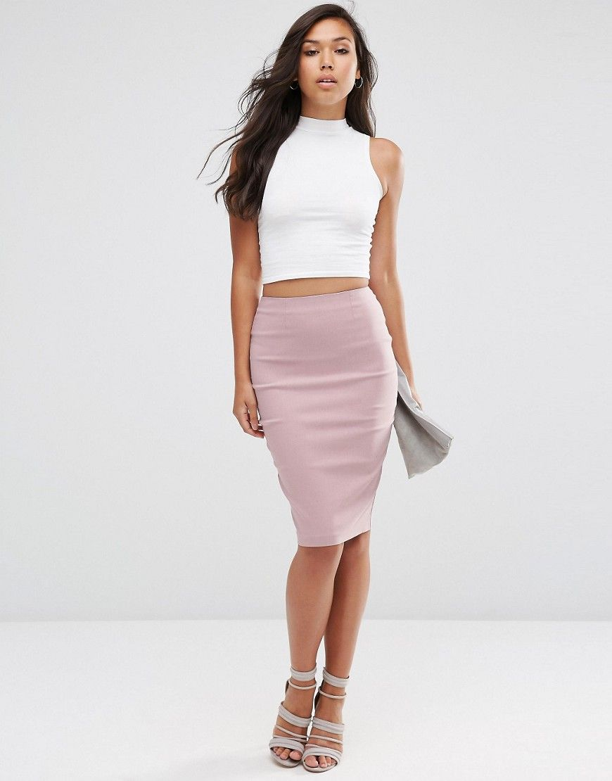 bee65711ecc4a8 ShopStyle Collective. ShopStyle Collective Asos Online Shopping, Online  Shopping Clothes, Pink Pencil Skirt, High Waisted