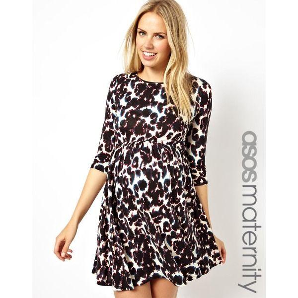 Süßes Asos Maternity Kleid mit Print. Mehr tolle Outfits für ...