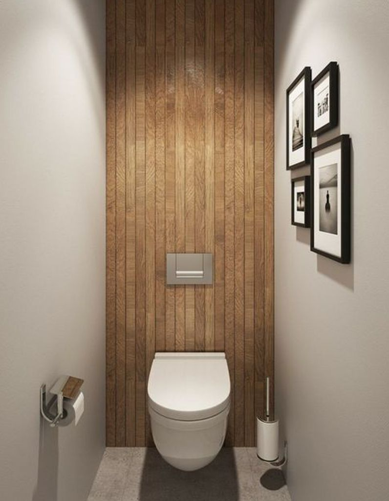 d corer ses toilettes avec du bois home bathroom