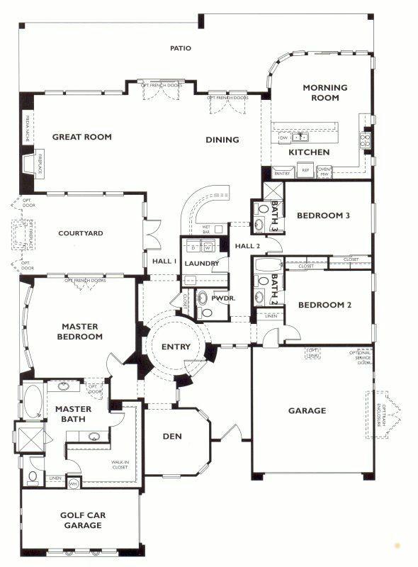 Trilogy At Vistancia Stellare Floor Plan Model Shea Trilogy Vistancia Home House Floor Plans Model Homes Floorplan P Floor Plans House Floor Plans Model Homes