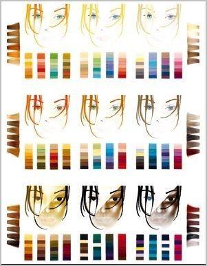 das 9er farbschema der typberatung typberatung farben typ und farbtypen. Black Bedroom Furniture Sets. Home Design Ideas