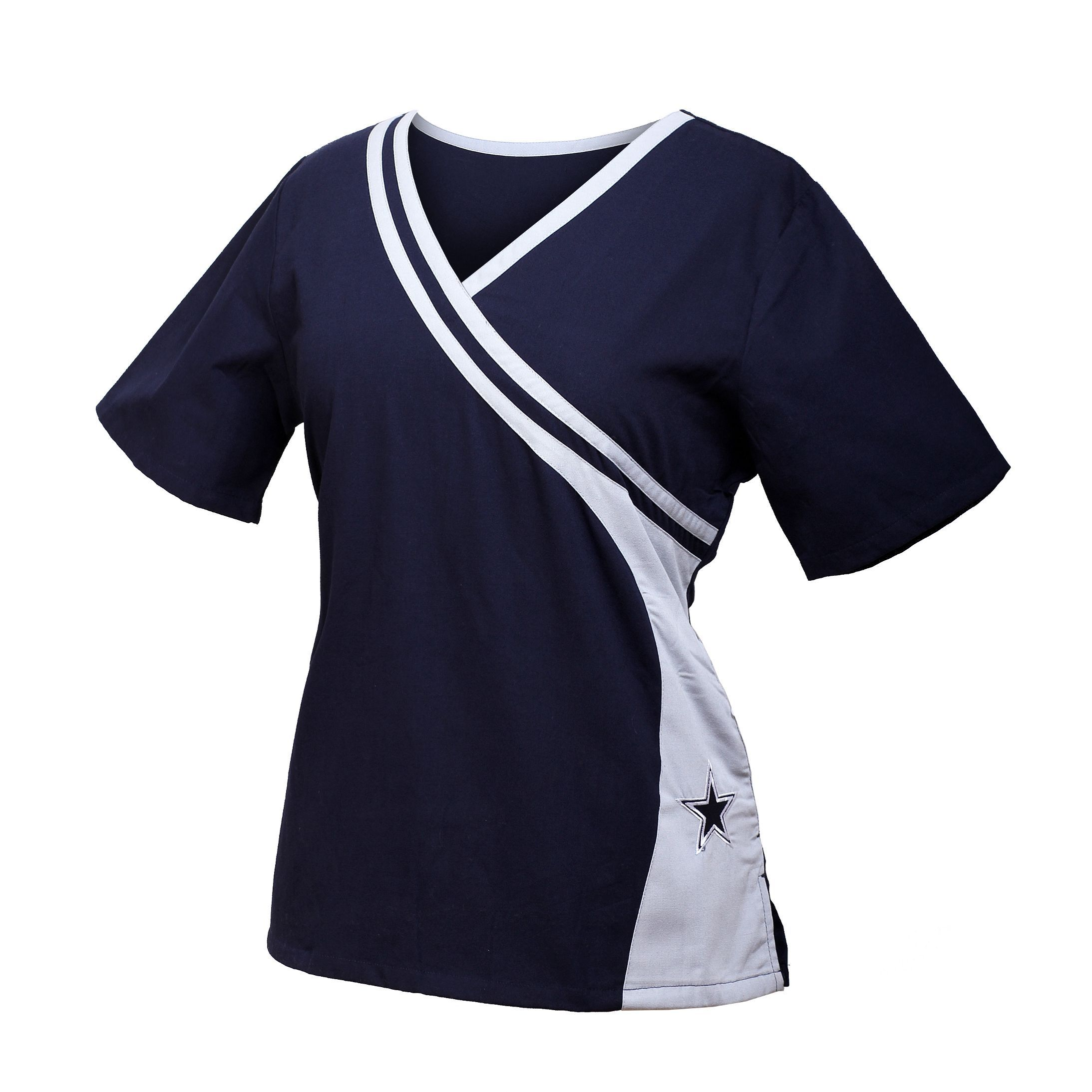 6773a283c14 Dallas Cowboys NEW Women's NFL Scrub Top | Dallas Cowboys Scrubs ...