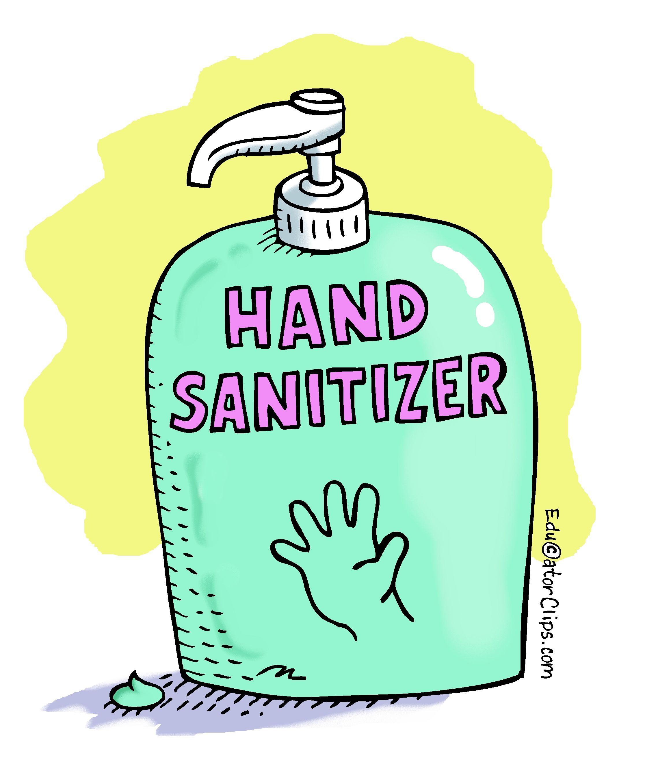 Hand Sanitizer Clip Art Handsanitizer Teacherclipart Hand