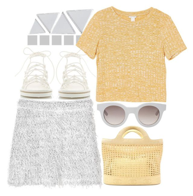 """""""fluff"""" by foundlostme ❤ liked on Polyvore featuring Chloé, Monki, Sun Buddies, Chanel, Wolf & Moon, MINISKIRT, under50 and skirtunder50"""