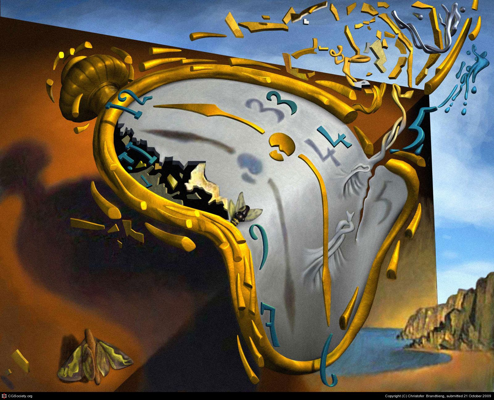 Salvador Dali - Time Exploding or Time Passes | Dali paintings, Salvador  dali, Salvador dali paintings