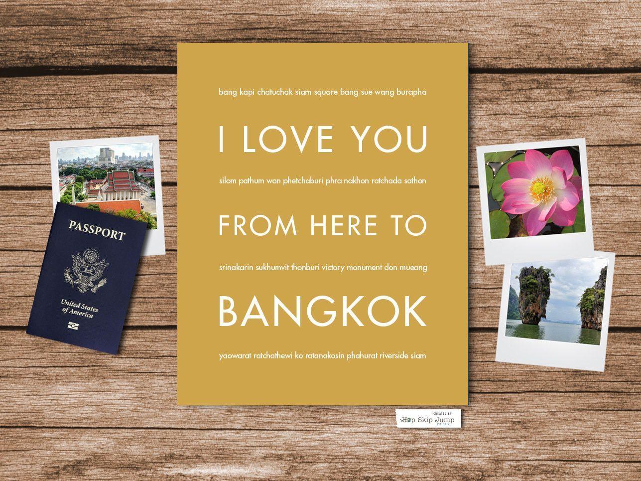 I Love You From Here To BANGKOK art print