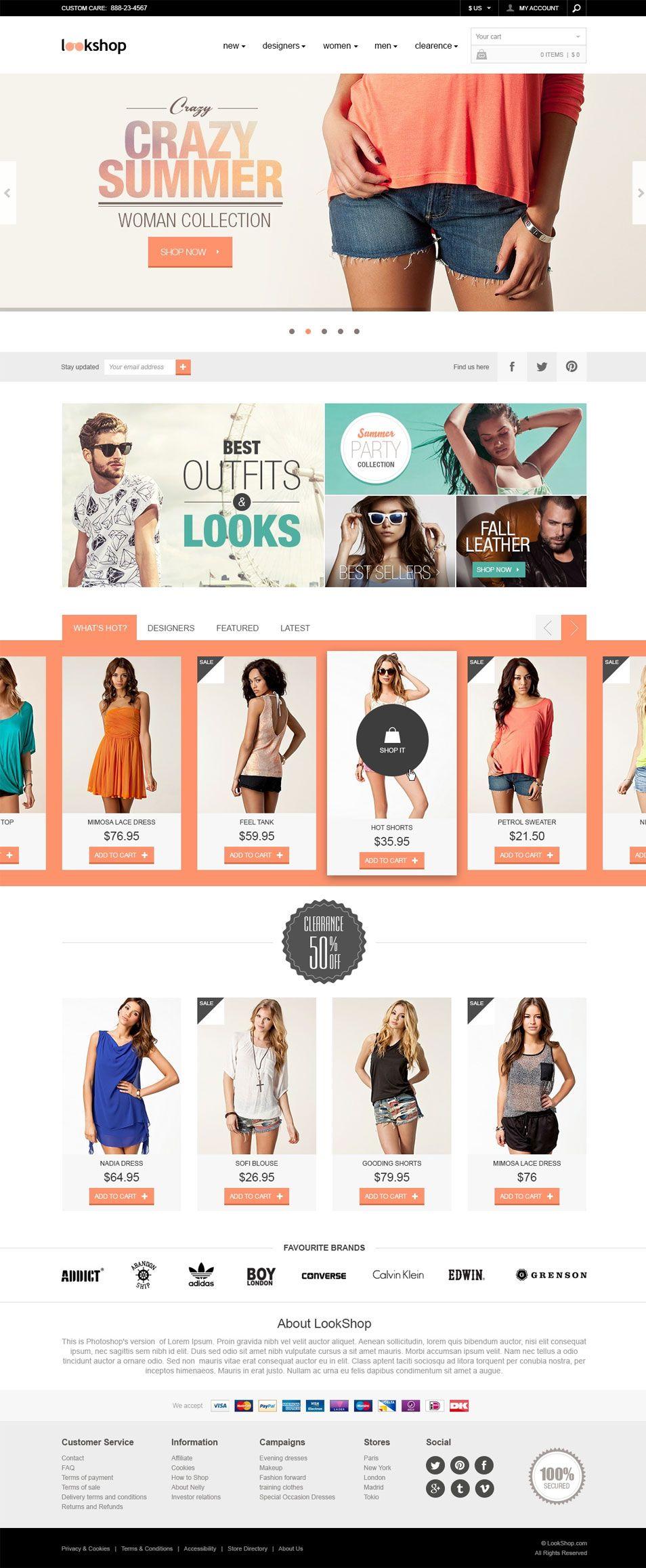 Free webdesign template Nice e merce design layout webdesign