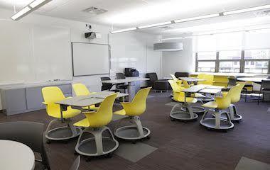 Modern High School Classroom : Perkins eastman school without walls senior high school