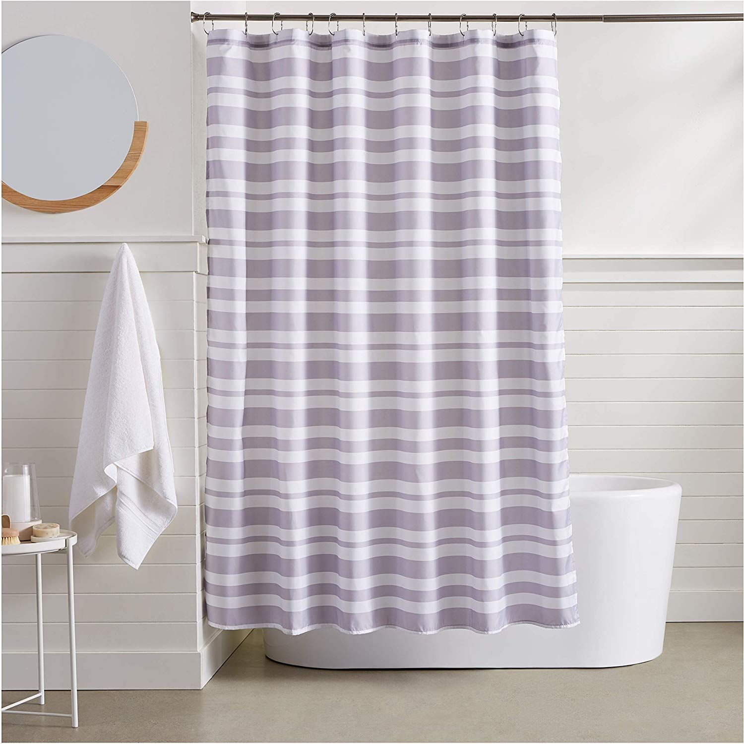 Amazon Basics Grey Herringbone Shower Curtain 72 Inch Our Shower Curtains Are Printed By State Of The Art Digita Shower Curtain Curtains Gray Shower Curtains