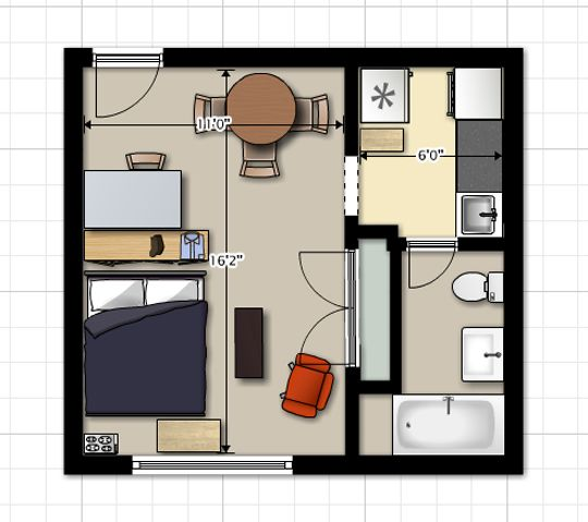 Nick S First Apartment Apt Layouts Pinterest Small