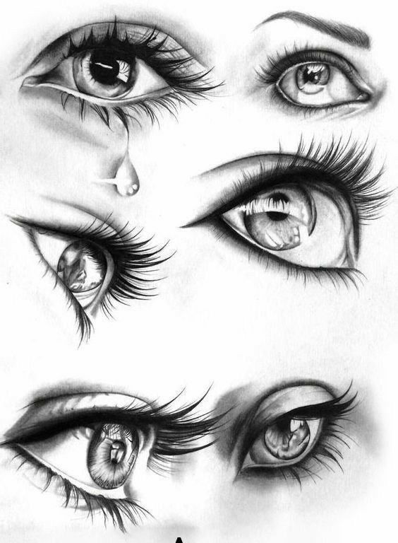 Pencil Drawing Step By Step Eye Drawings Realistic And Colorful Art Eye Illustration Realistic Eye Drawing Eye Drawing