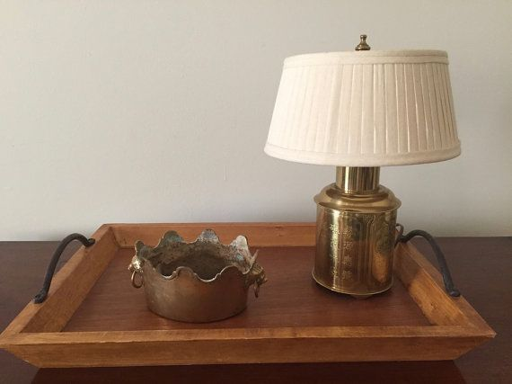 Small Brass Asian Style Table Lamp With By SouthernLadyEstates