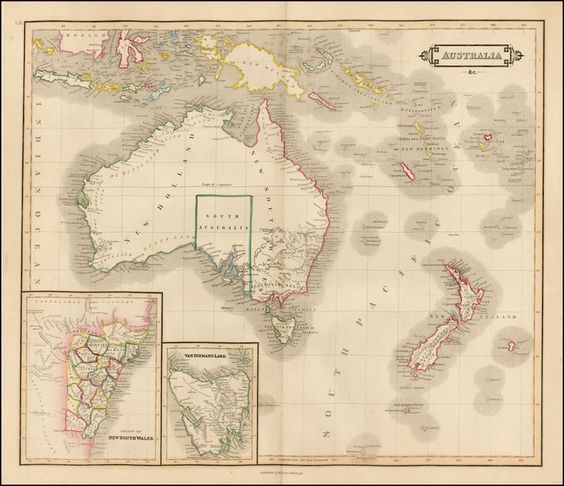 Map Of Australia 1830.Australia New Zealand And Other Pacific Islands Map Made By D