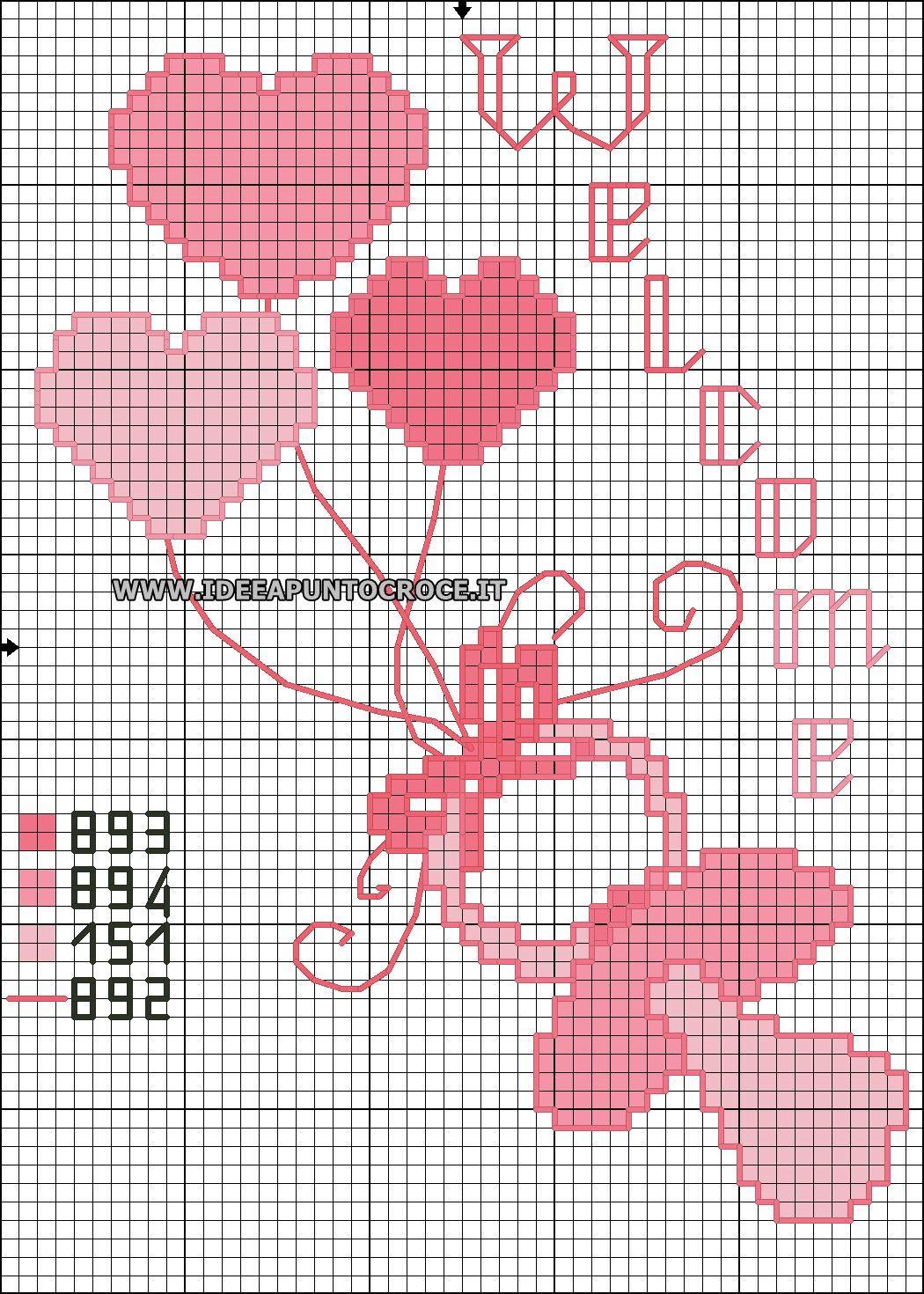 Ciuccio bimba schema punto croce punto croce ricamo for Schemi punto croce bavaglini bimba