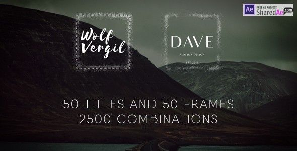 Videohive - Title Pack 19166353 - Free Download | Titles | Pinterest ...