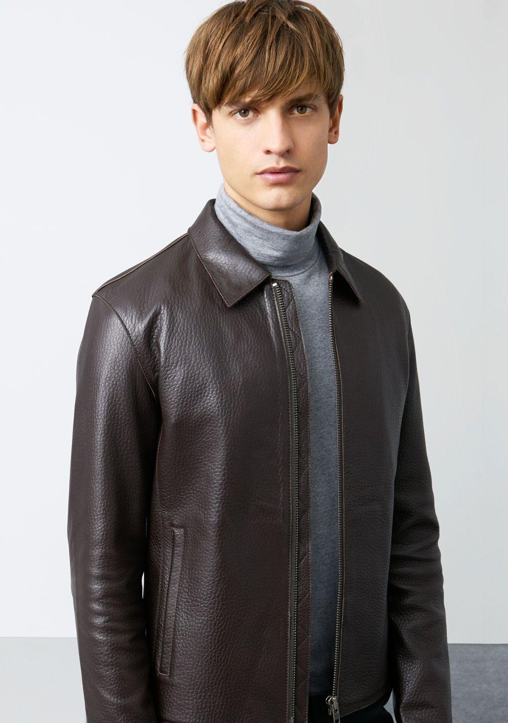 ZARA Man Lookbook November Leather jacket and