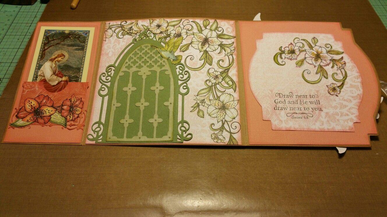 Inside of folded card