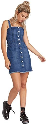 Photo of New Volcom Women's Vol Stone Button Up Denim Dress online – Thepe