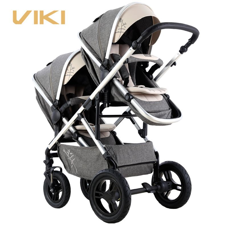 Viki Multi Function Baby Stroller For Twins Two Way Twins Stroller Pushchair For 2 Kids Bidirectional Carritos De Bebe Carritos Gemelares Coches Para Bebes