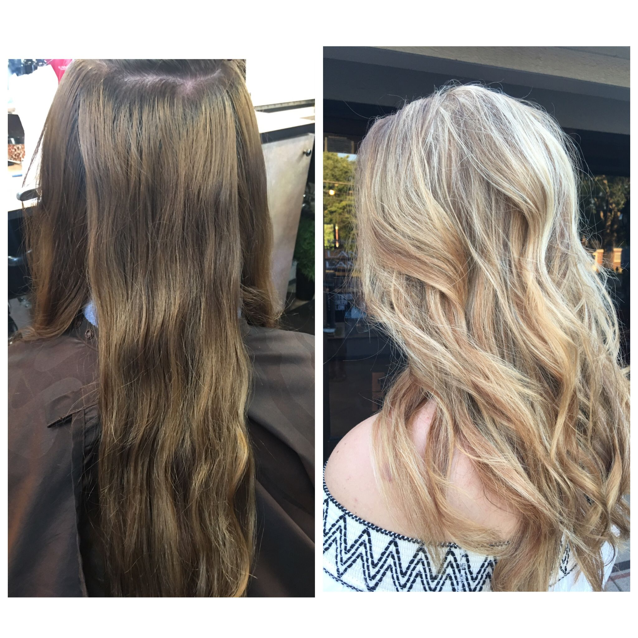 Redken Flashlight Balayage Blonde Hair Before And After Hair