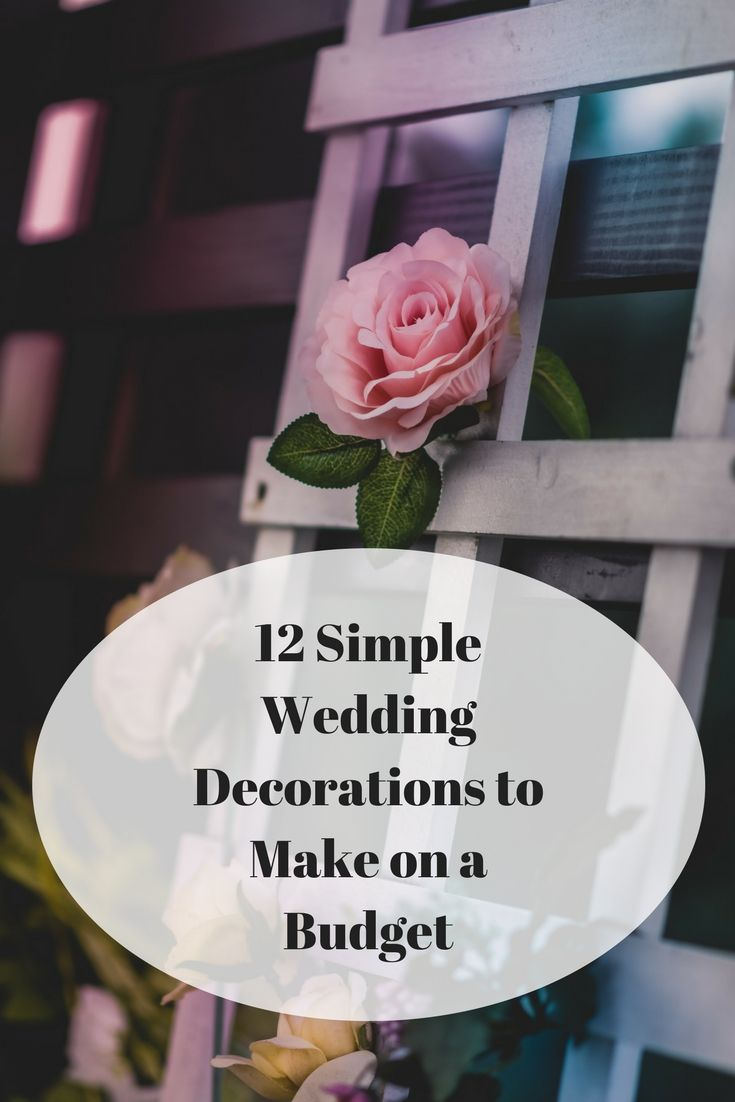 Wedding decorations simple   Simple Wedding Decorations to Make on a Budget  Frugal Weddings