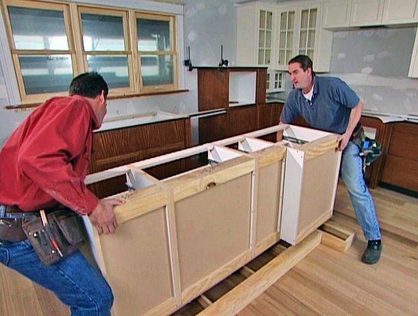 Installing Kitchen Island - installing kitchen island step ...