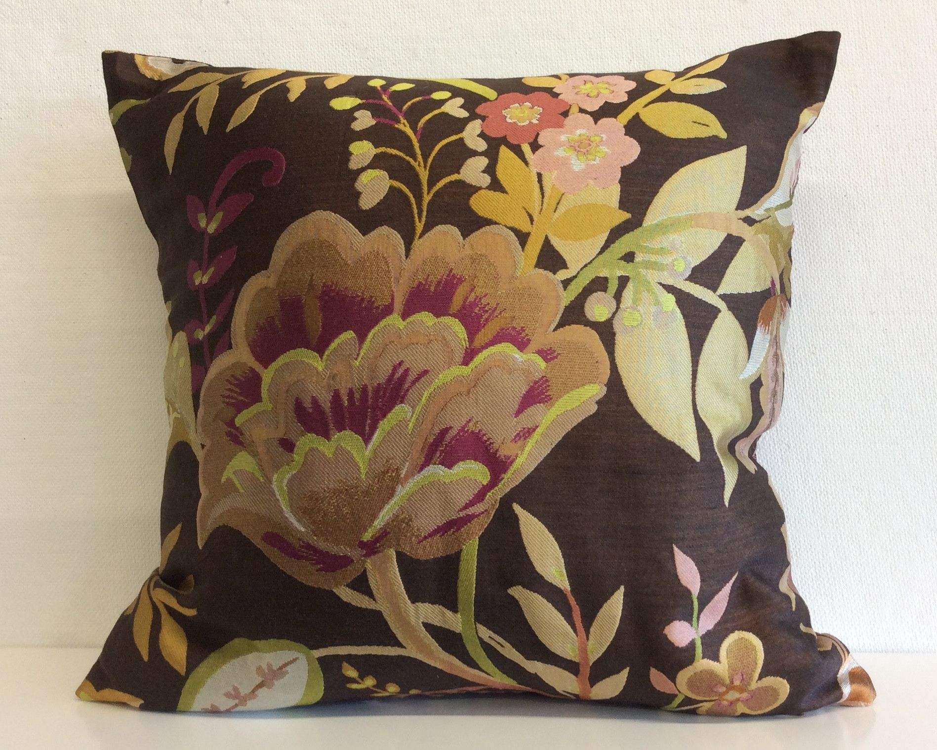 Silk Flowers Pillow