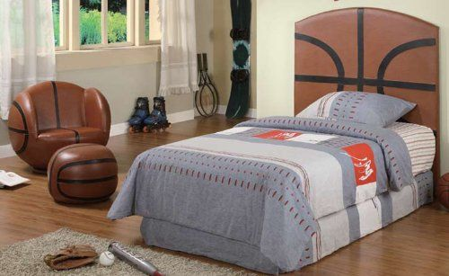 Best Kid Youth Basketball Twin Size Bed Headboard 164 50 400 x 300
