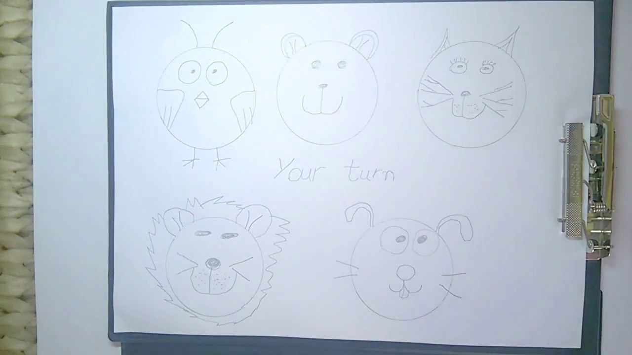 drawing and art tis. Easy drawing tips to make faces of animals ...