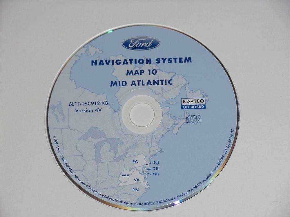 Genuine OEM Ford Navigation System Mid Atlantic USA Map Disc 10 Version 4V