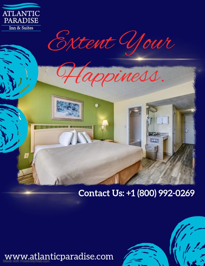 Enjoy views of the Myrtle Beach in our #AtlanticParadiseInn&Suites .  vacationers for a memorable and comfortable😇😊 stay while enjoying Myrtle Beach. Book Now: +1 (800) 992-0269 #Myrtlebeach  #Southcarolina #Hotels #Motel #Atlantic #Paradise #inn #Suites #Holidayspecial #Enjoyed