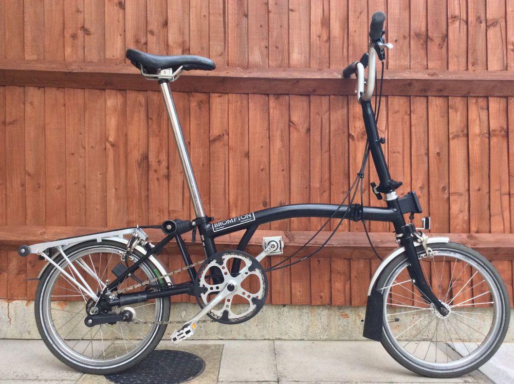 Brompton M3r Black 3 Speed Folding Bike Cycle Worldwide Shipping Folding Bike Brompton Bicycle