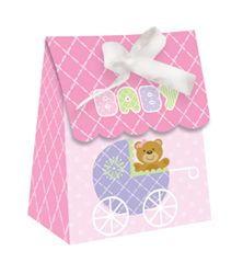 Pink Teddy Bear Mini Favor Bags