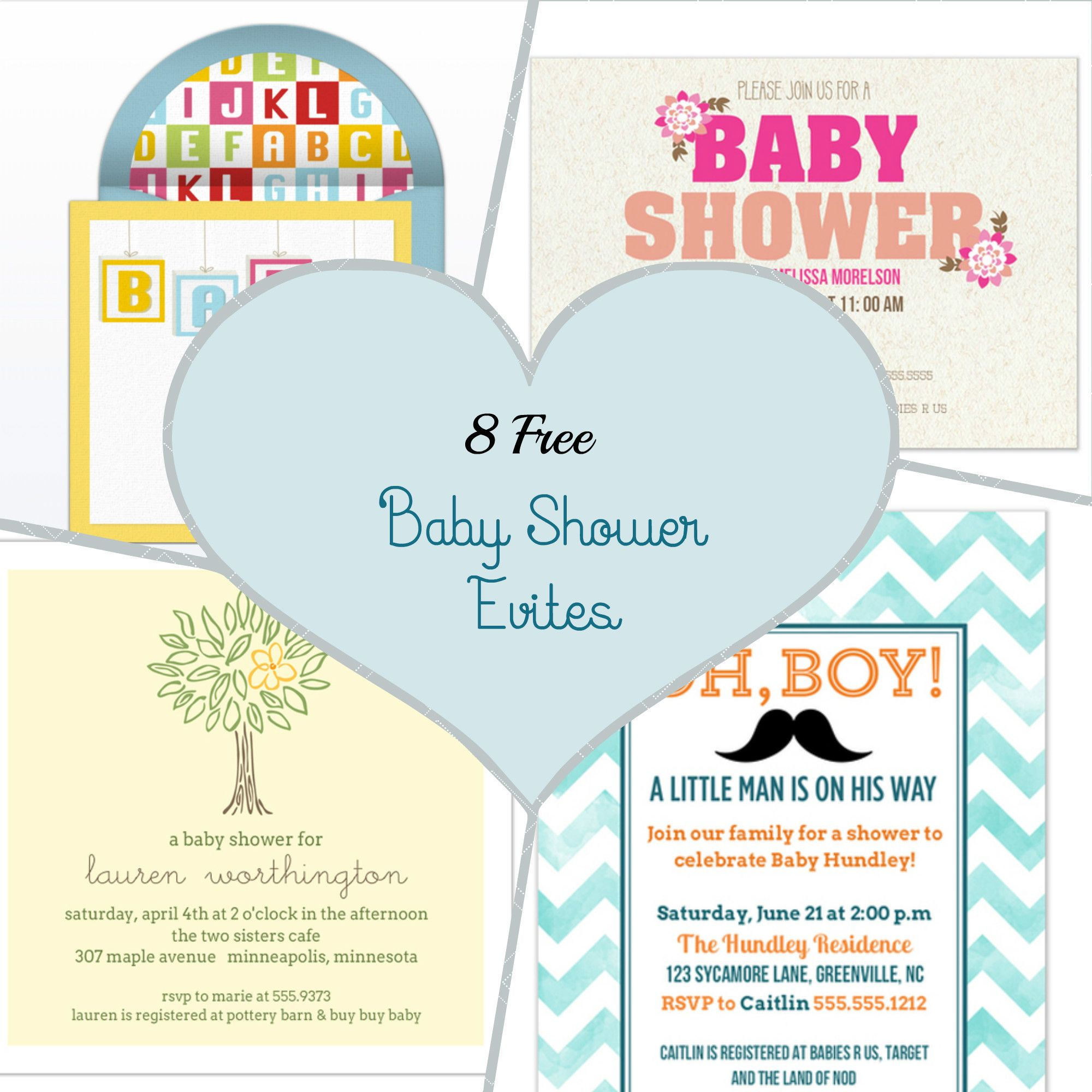 Free Baby Shower Evites You Can Customize Before Sending.