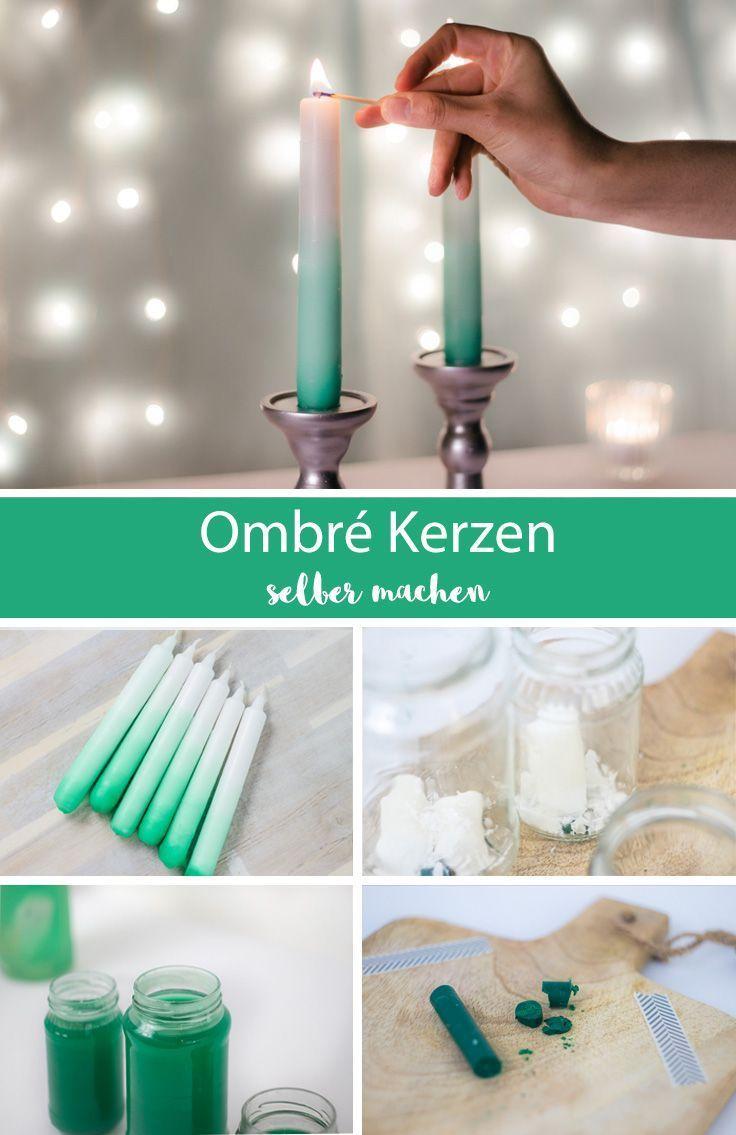Kerzenwachs färben und schicke Ombré Kerzen selber machen - Anleitung