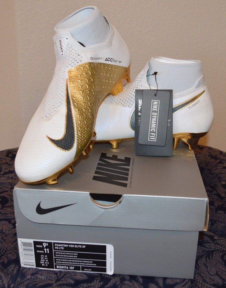 a2589f74d1c9 Nike Phantom Vision Elite DF FG Limited White Gold Only 1000 pairs Size 9.5  (eBay Link)
