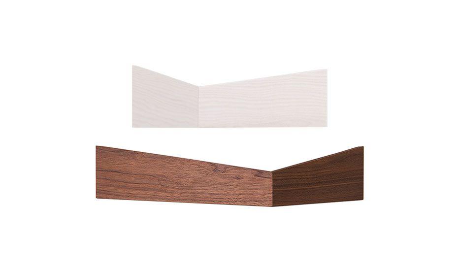 MONOQI | 2 Walnut Pelican Shelves - S/M