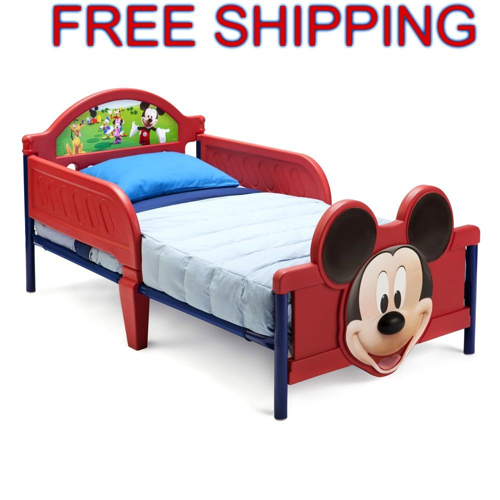 kids bed mickey mouse 3d toddler bedroom furniture children play