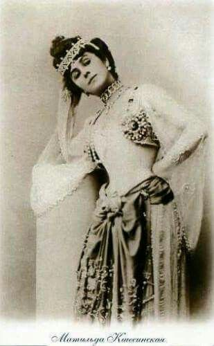 "Matilda Kchessinskaya in costume. ""AL"""