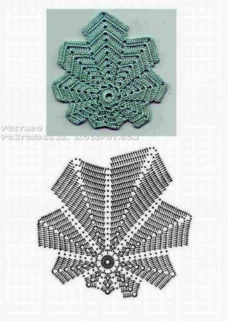 patrones-de-hojas-a-crochet-para-imprimir2.jpg | pañitos. forma de ...