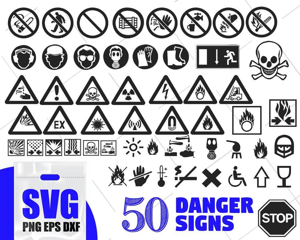 Danger Signs Silhouette Danger Table Svg Bundle Danger Svg Sign Svg Danger Stickers Svg Peril Svg Menace Svg Risk Svg Insecurity Svg Emergency Svg Dxf Svg Business Design