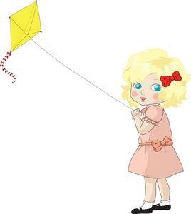 Clipart Girl Flying Kite Kite Clip Art Short Stories For Kids