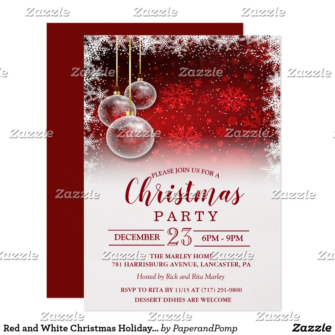 Red And White Christmas Holiday Invitation There S No Season Like The Holiday Party Season Invite Your G Holiday Invitations Christmas Invitations Invitations