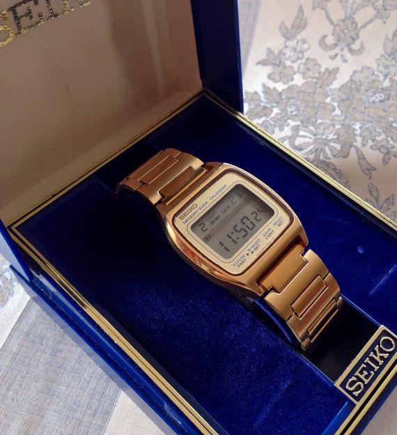Hi-Tech1979 Seiko Memory Bank Calendar LCD gold by AboutTimeNI