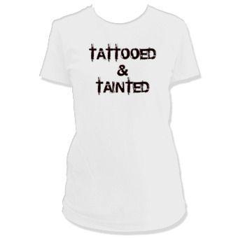 T-Shirts Tattooed And Tainted Tattoo Tee Shirt