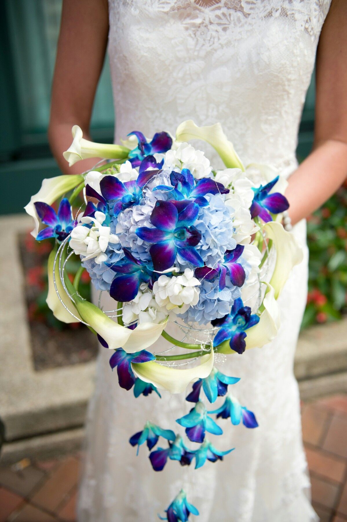Abloom, Ltd. Bride Blue Orchids & Calla Lilies Modern