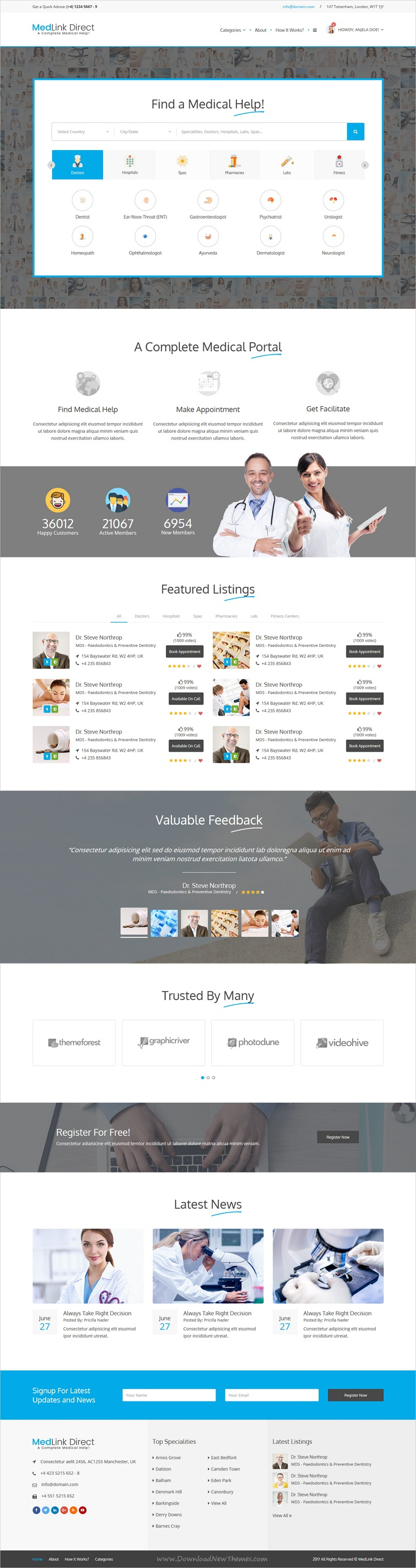 Medlink is a complete #HTML bootstrap template for professional ...