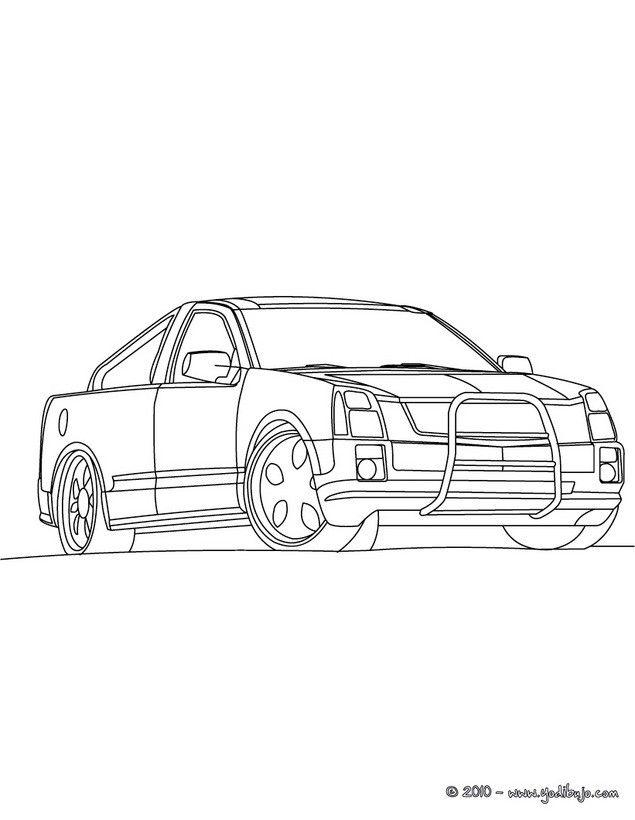 dibujos para colorear camionetas  una camioneta deportiva