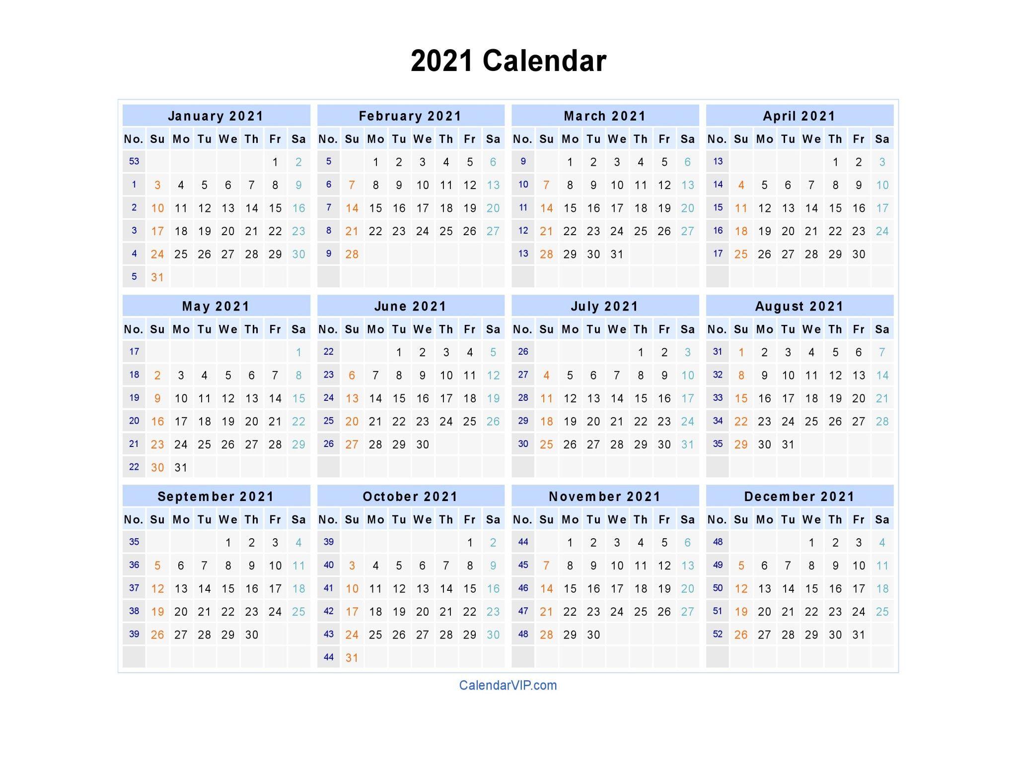 2021 Calendar Blank Printable Calendar Template In Pdf 2021 Calendar 2021 Calendar Templa In 2020 Excel Calendar Template Printable Calendar Template Calendar Template